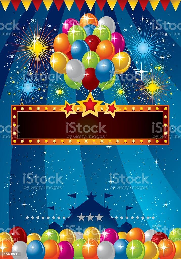 Festive Balloon royalty-free stock vector art