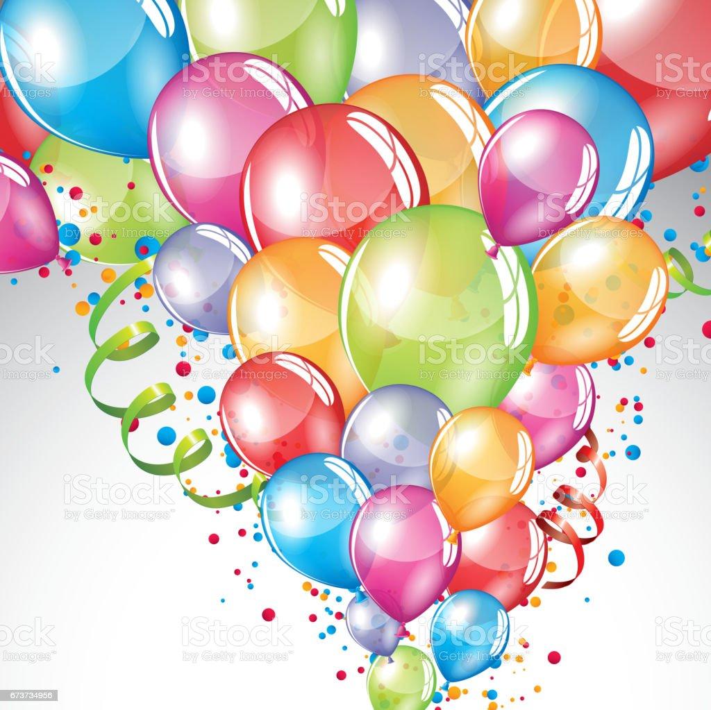 Festif fond de ballons festif fond de ballons – cliparts vectoriels et plus d'images de anniversaire libre de droits