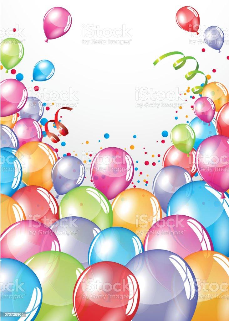 Carte de ballons festif carte de ballons festif – cliparts vectoriels et plus d'images de affiche libre de droits