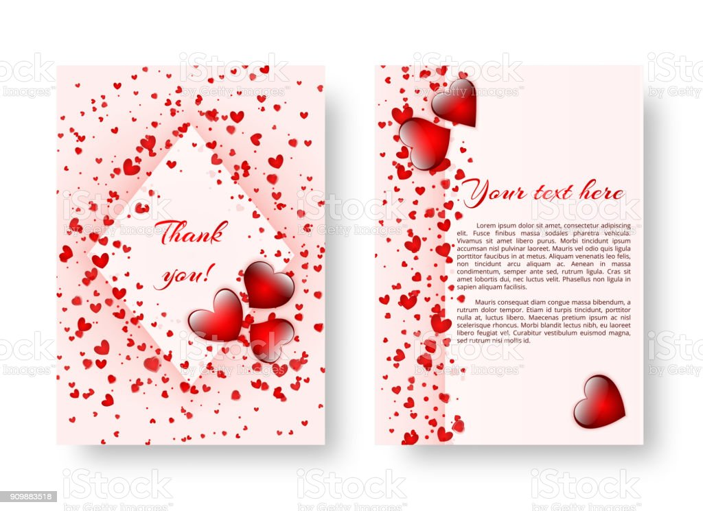 Festive booklet with St. Valentine's Day vector art illustration