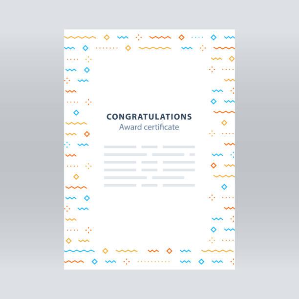 お祝い境界線、紙吹雪背景、ベクトル パターン、シンプルな装飾、招待状 - 証明書と表彰のフレーム点のイラスト素材/クリップアート素材/マンガ素材/アイコン素材