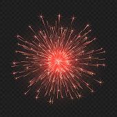 Festive bright fireworks. Element  for celebrations and holidays. Vector illustration