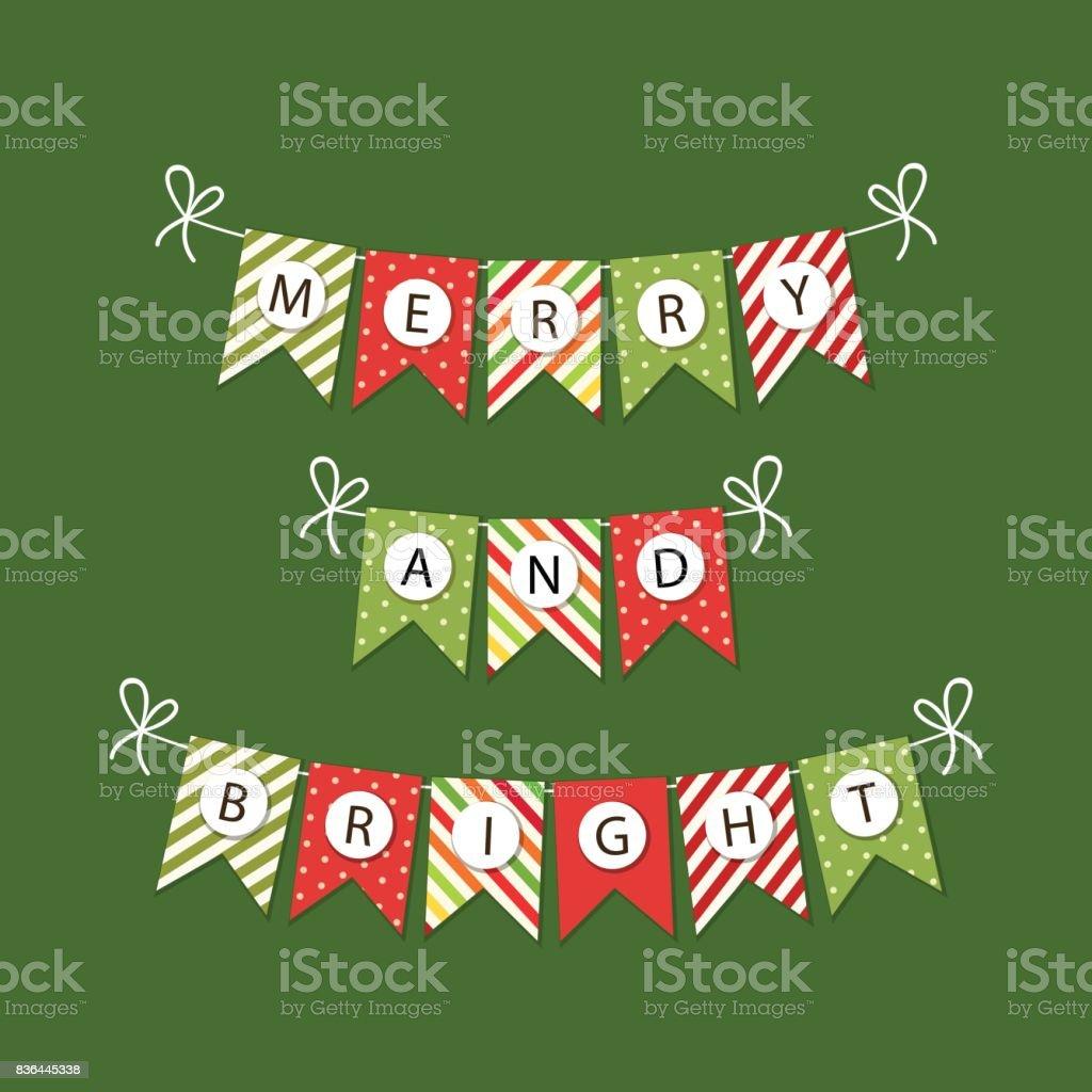 Buchstaben Frohe Weihnachten.Festliche Girlanden Fahnen Mit Buchstaben Frohe Weihnachten In
