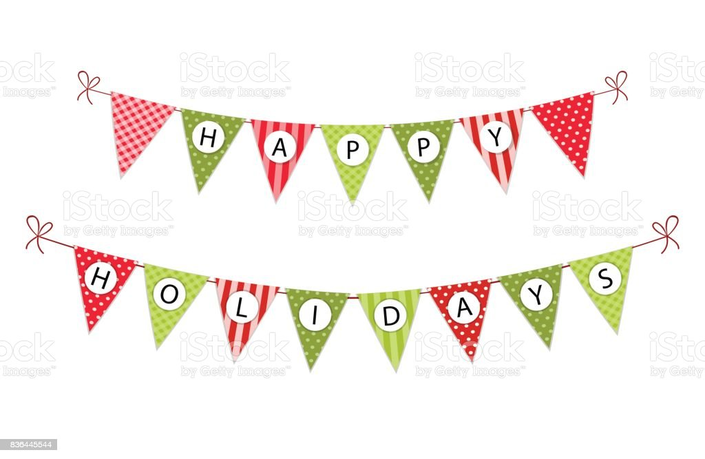 Buchstaben Frohe Weihnachten.Festive Bunting Flags With Letters Merry Christmas In Traditional