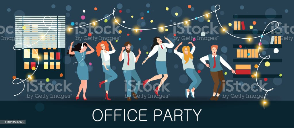 Office party, new year\'s carnival, festival, holiday. Managers...