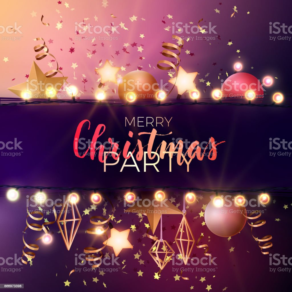 festive christmas and new year vector party flyer or dinner