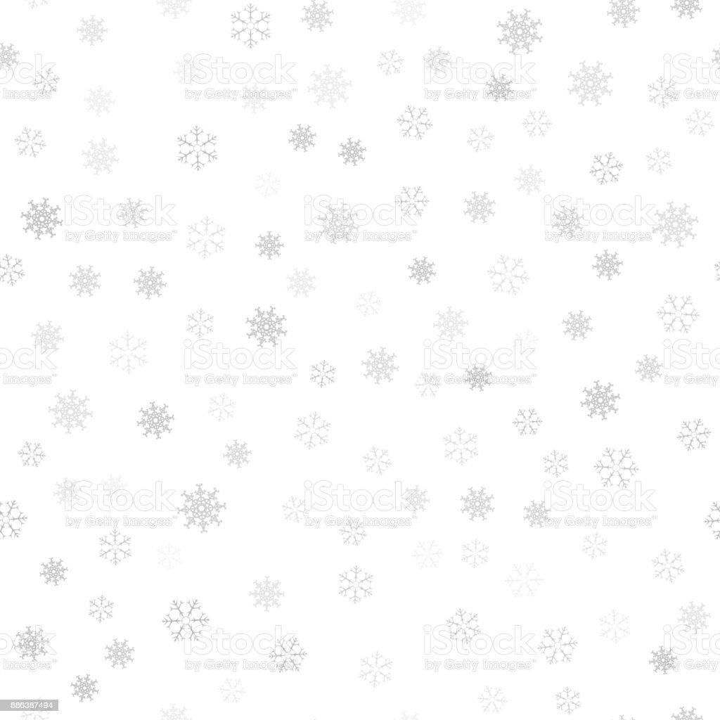Ilustración de Fondo De Navidad Festiva De Los Copos De Nieve Para ...