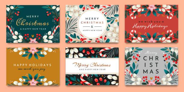 bildbanksillustrationer, clip art samt tecknat material och ikoner med festliga julkort - christmas card