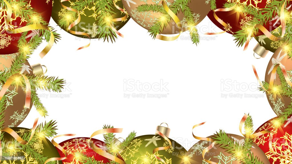 festive-christmas-frame-for-the-new-year-of-colorful-balls-christmas-vector-id1082191852