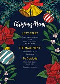istock Festive christmas menu template with decorative elements 1237813031