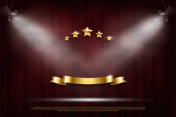 お祝いの暗い赤いカーテン現実的な贅沢な背景 - glitter curtain点のイラスト素材/クリップアート素材/マンガ素材/アイコン素材