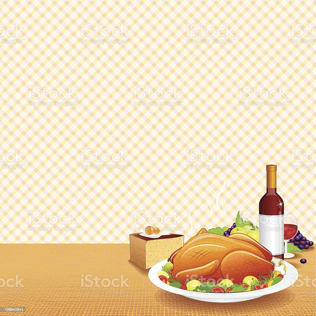 Festive Dinner Eps10 royalty-free stock vector art