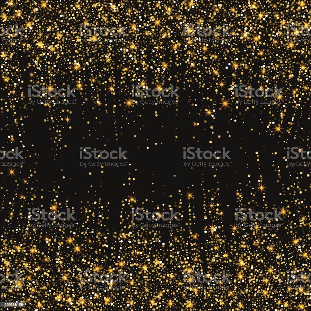 festive explosion of confetti gold glitter background for