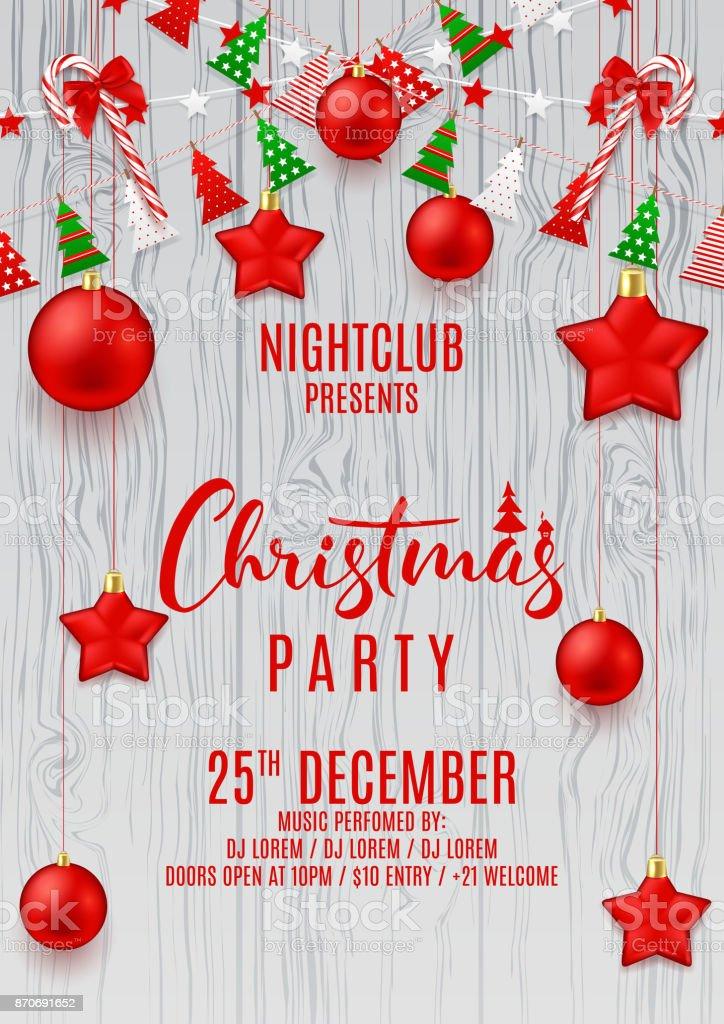 Festivo Flyer para festa de Natal vetores de festivo flyer para festa de natal e mais imagens de a data royalty-free