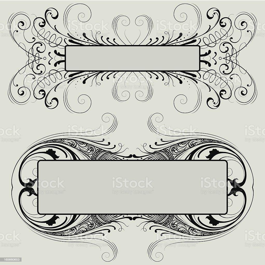 Festive Frames vector art illustration