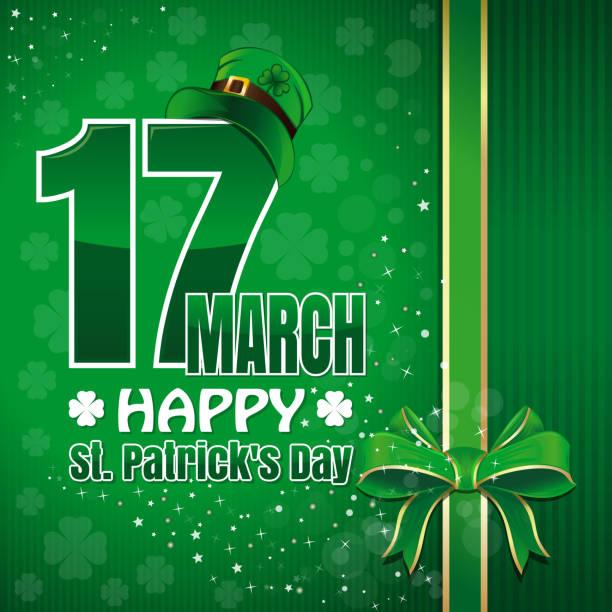 Festliche grünen Hintergrund zum St. Patricks Day – Vektorgrafik