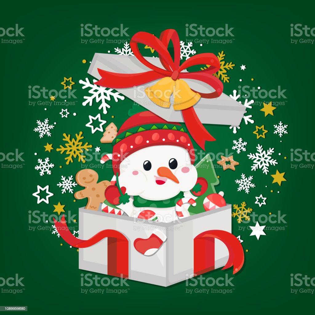 Ilustración De Tarjeta De Felicitación De Fiestas Navidad Y