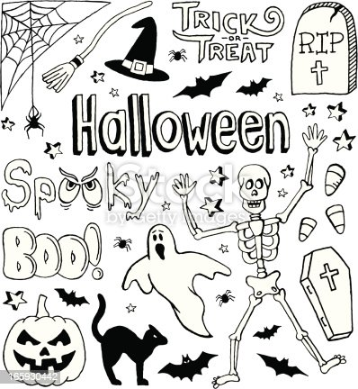 A Halloween-themed doodle page.