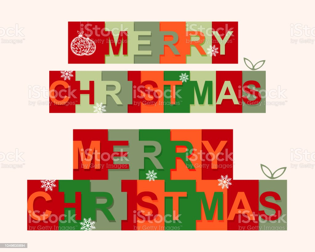 Merry Christmas Letter Y.Festive Merry Christmas Text With Letters In Squares Of