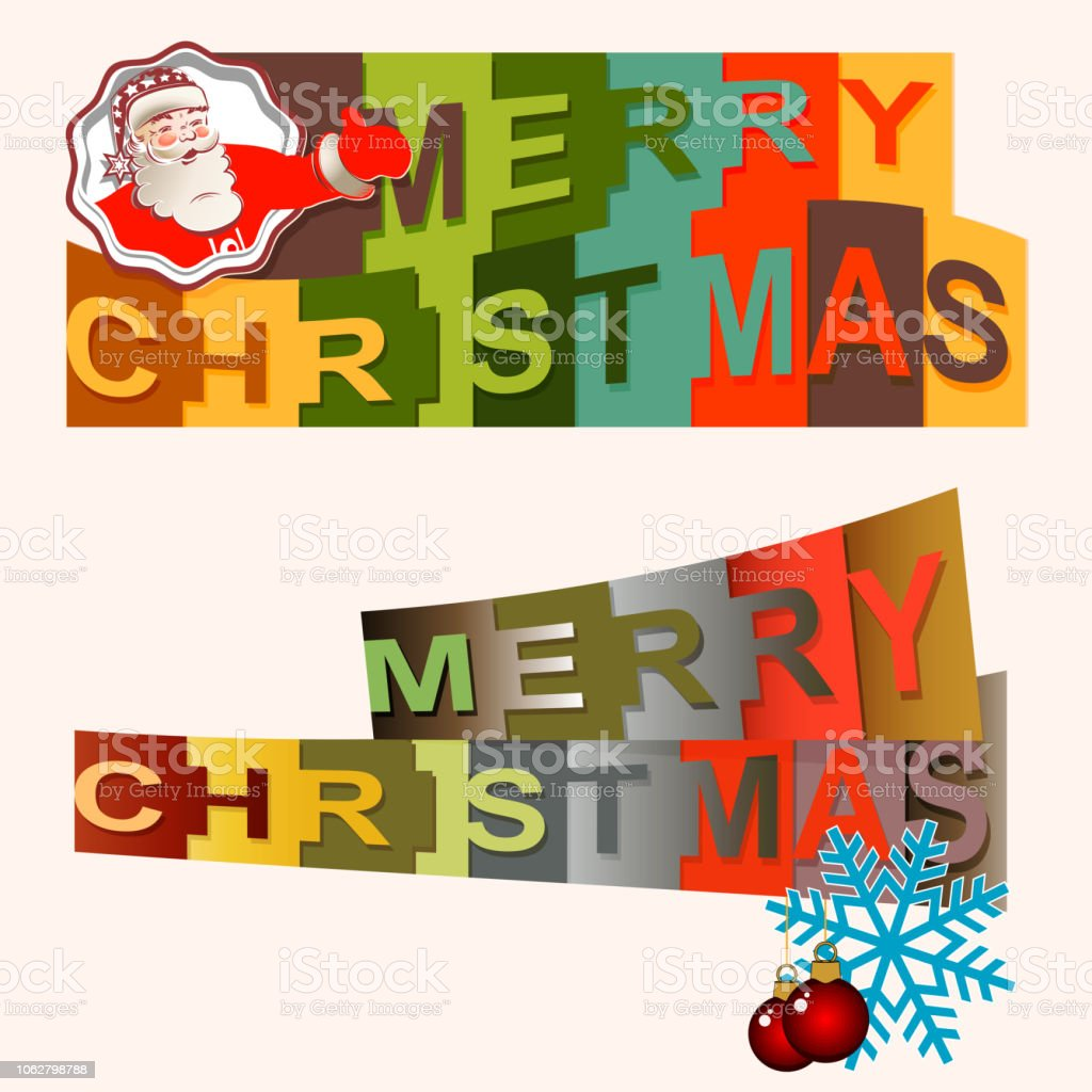 Festliche Frohe Weihnachten Text Mit Buchstaben In Quadrate In ...