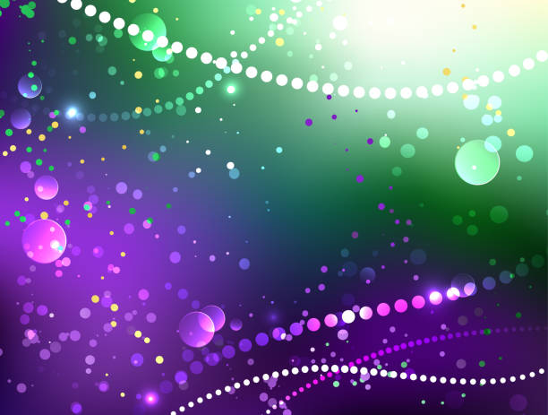 festive purple background - mardi gras stock illustrations, clip art, cartoons, & icons