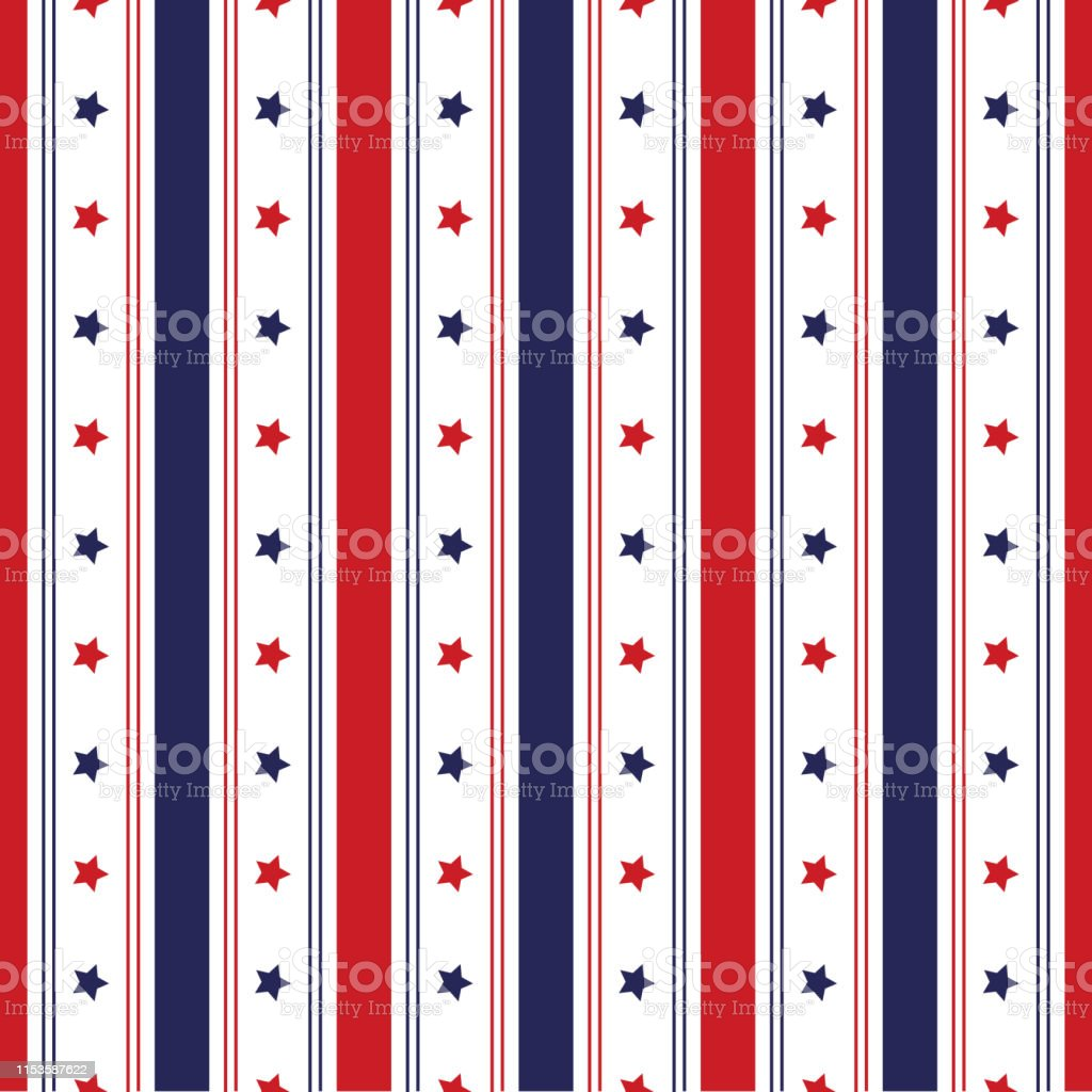 Festive seamless background in national colors USA red white blue....