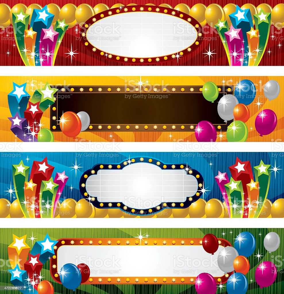 Festive Star and Balloon royalty-free stock vector art
