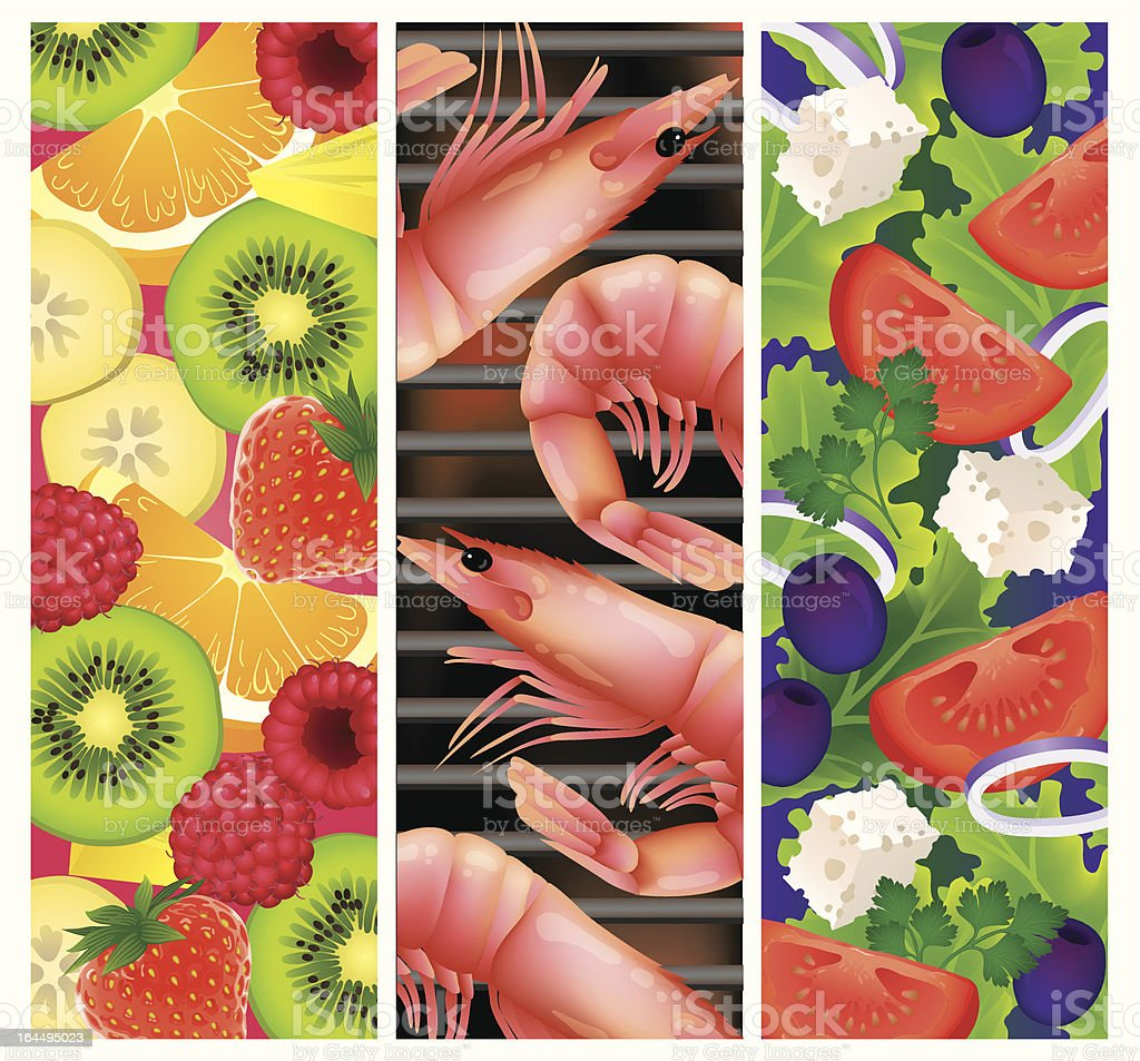 Festive summer foods! royalty-free festive summer foods stock vector art & more images of banana