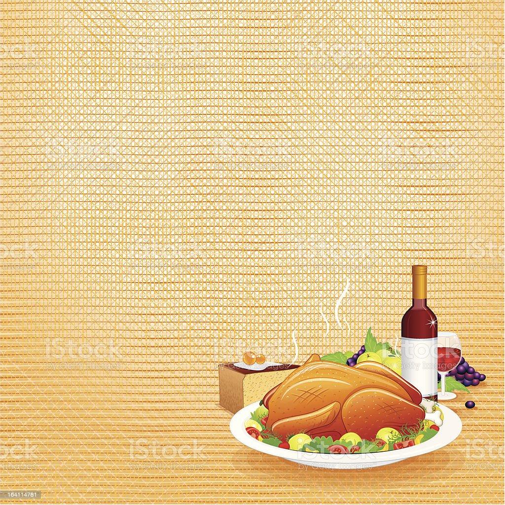 Festive Thanksgiving Day Dinner royalty-free stock vector art