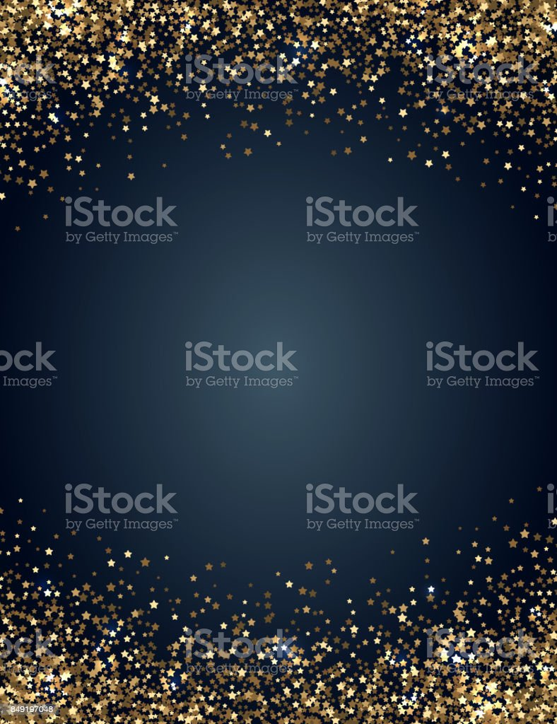 Festive vertical Christmas and New Year background with gold glitter of stars. Vector illustration royalty-free festive vertical christmas and new year background with gold glitter of stars vector illustration stock illustration - download image now