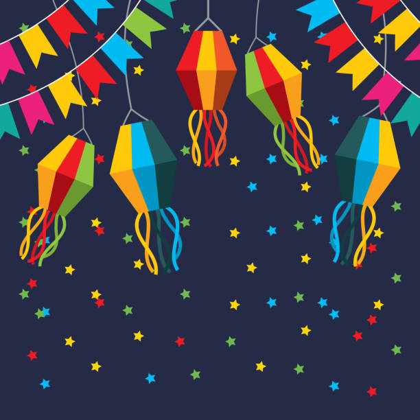 stockillustraties, clipart, cartoons en iconen met feest juni illustratie - traditie
