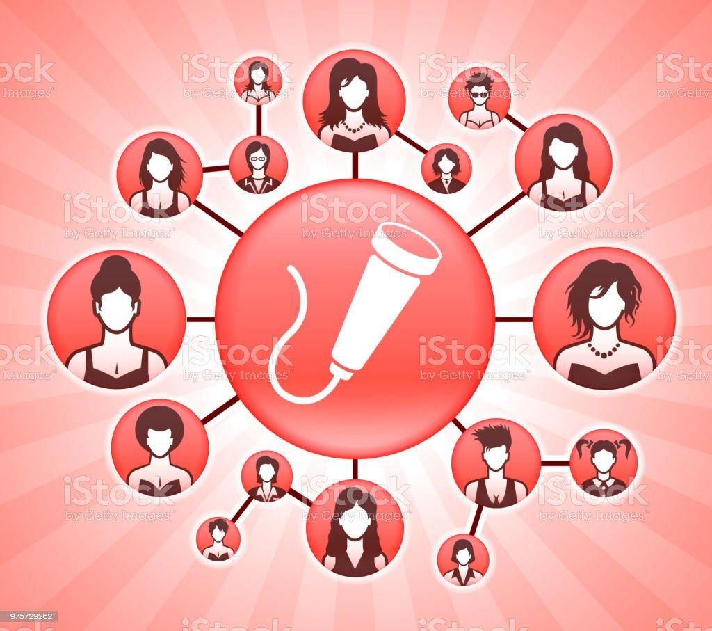 Fetale Stethoskop Frauenrechte Rosa Vector Hintergrund - Lizenzfrei Anzug Vektorgrafik