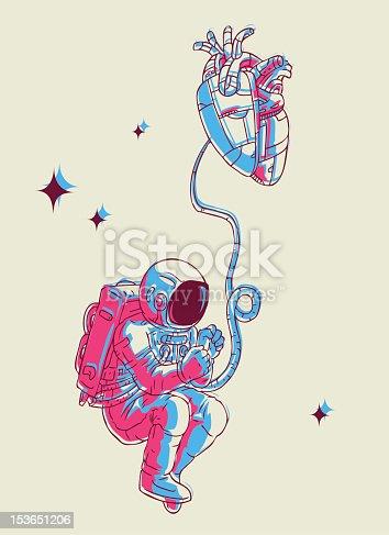fetus spaceman  cartoon illustration...
