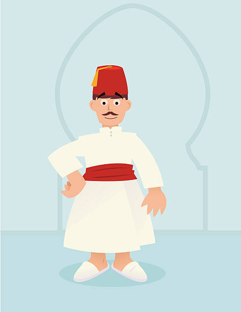 fez - old man slippers stock illustrations, clip art, cartoons, & icons