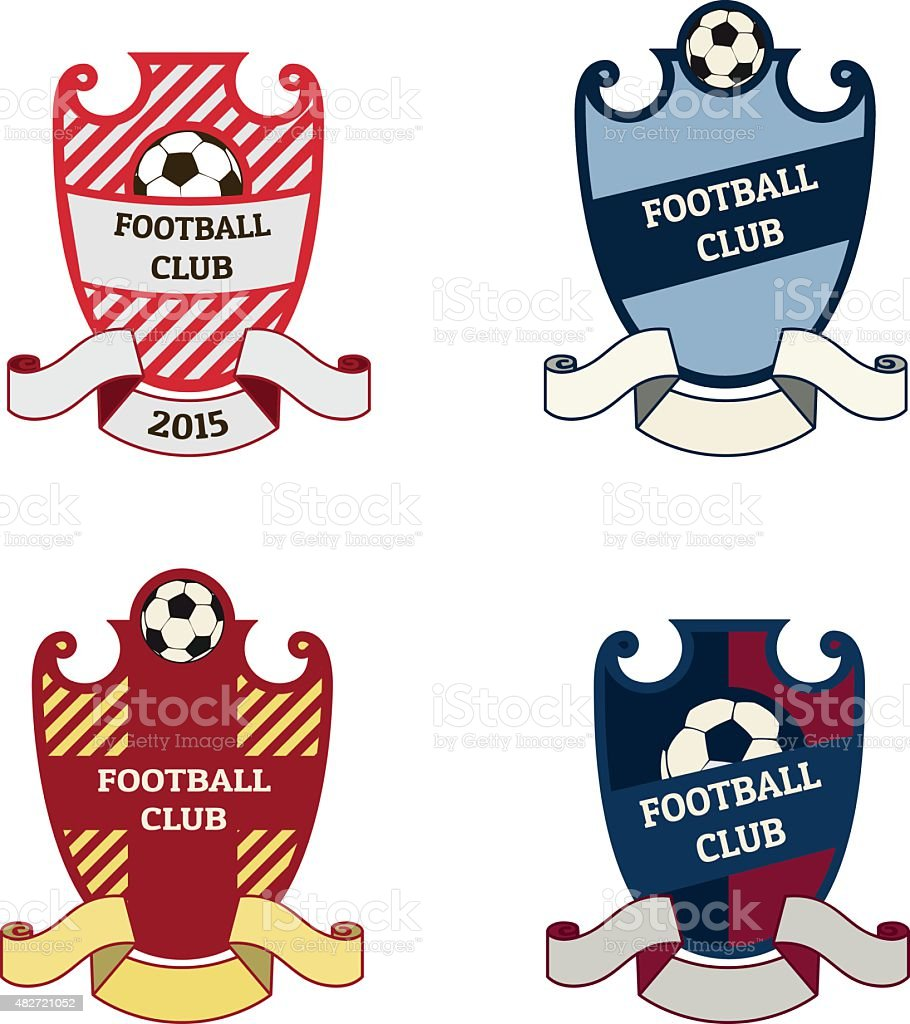 Ffootball Soccer Crests Logo Royalty Free Ffootball Soccer Crests Logo  Stock Vector Art U0026amp;