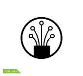 istock Fiber optic cable icon vector design template 1253557638