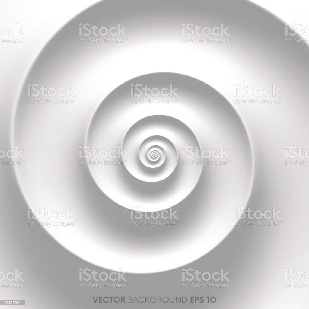 Fibonacci spiral background vector art illustration