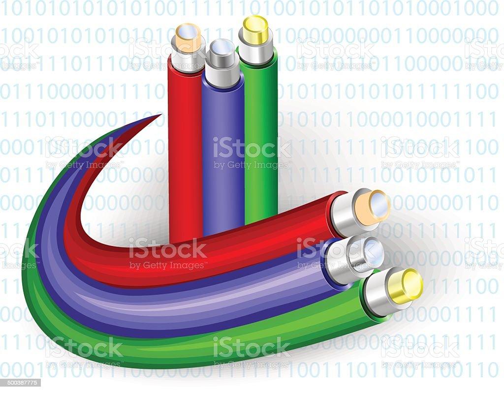 Fibre Optic. Vector illustration vector art illustration