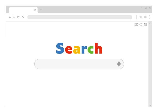 Fictional search engine website. general template illustration vector art illustration