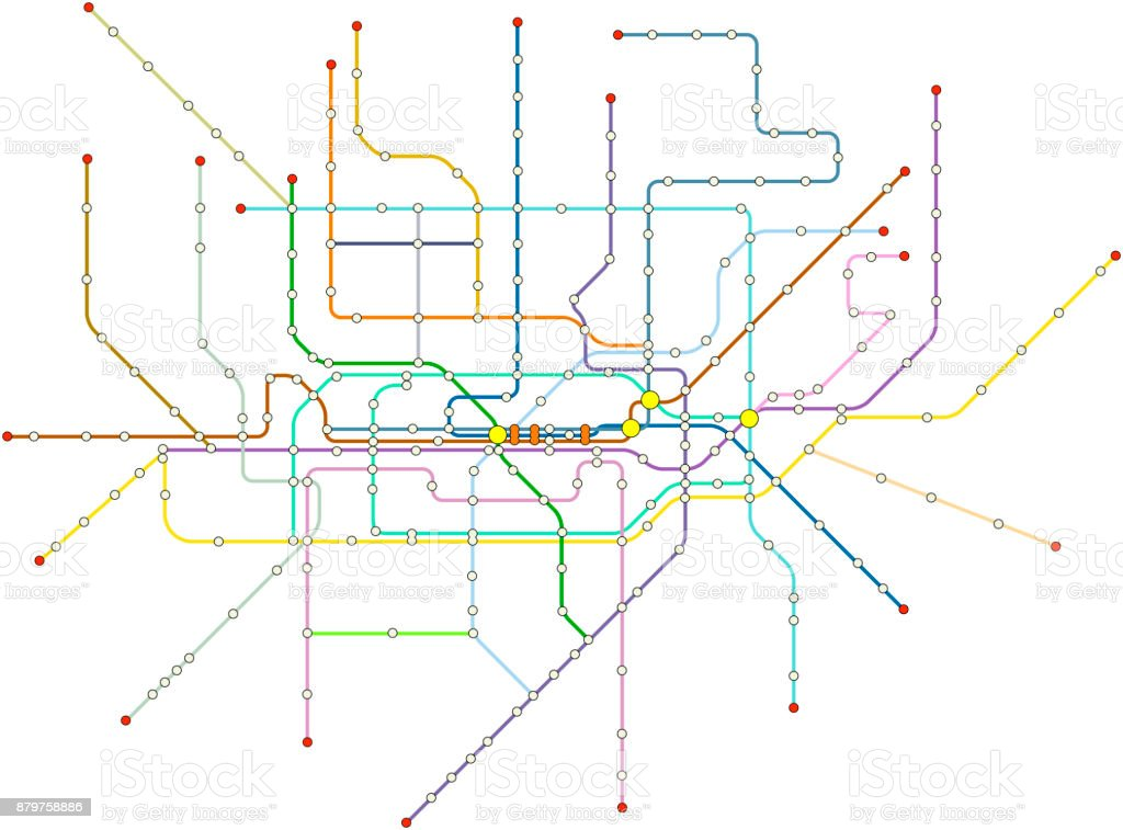 Royalty Free Subway Map Clip Art Vector Images Illustrations Istock
