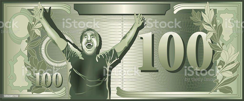 Fíjense verde de cien dólares estadounidenses ilustración de fíjense verde de cien dólares estadounidenses y más banco de imágenes de actividad comercial libre de derechos