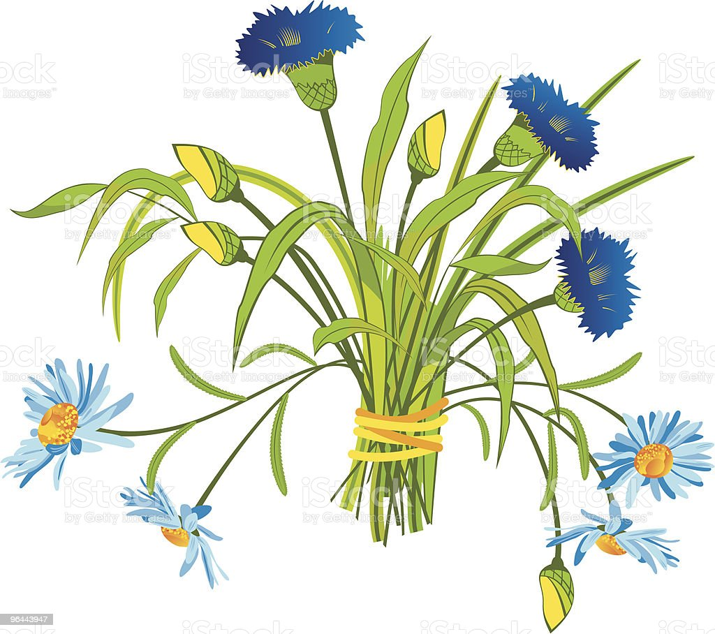 Field Flowers royalty-free stock vector art