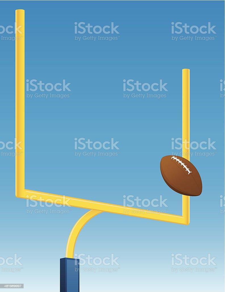 Field Goal vector art illustration