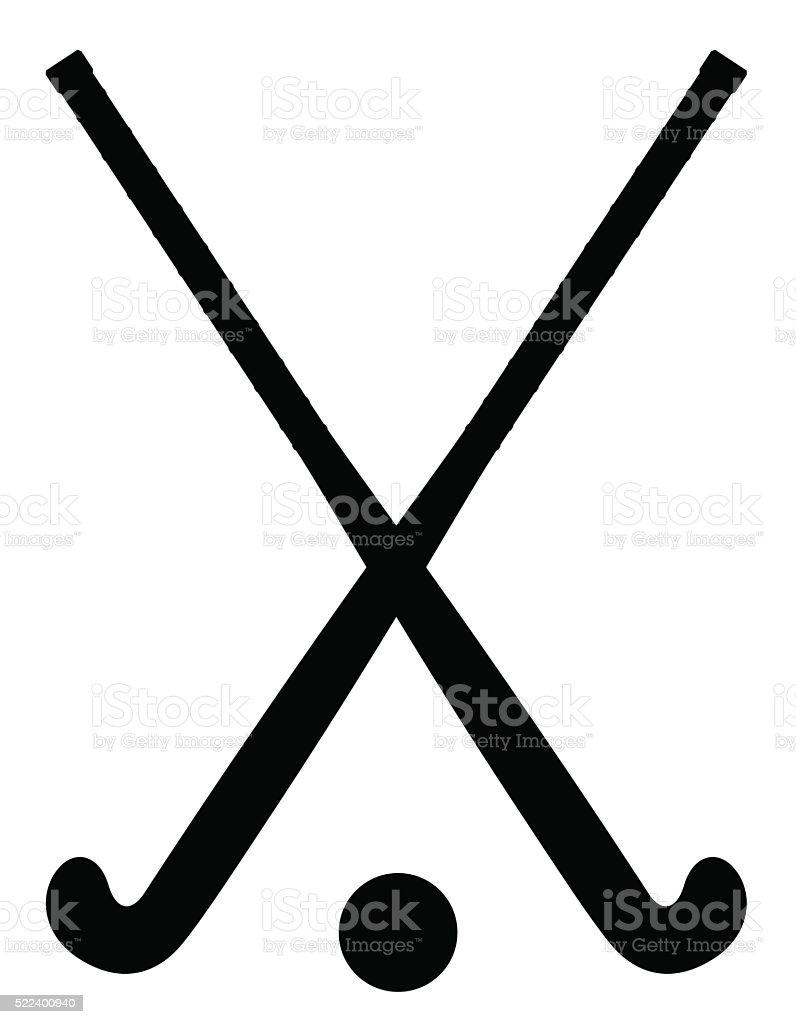 Equipo De Hockey Sobre Hierba Silueta Negra Marco Ilustraciones ...