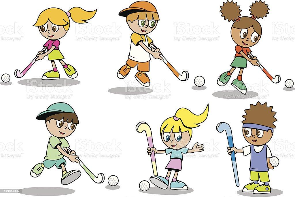 Field Hockey Kinder Stock Vektor Art und mehr Bilder von Bildung ...