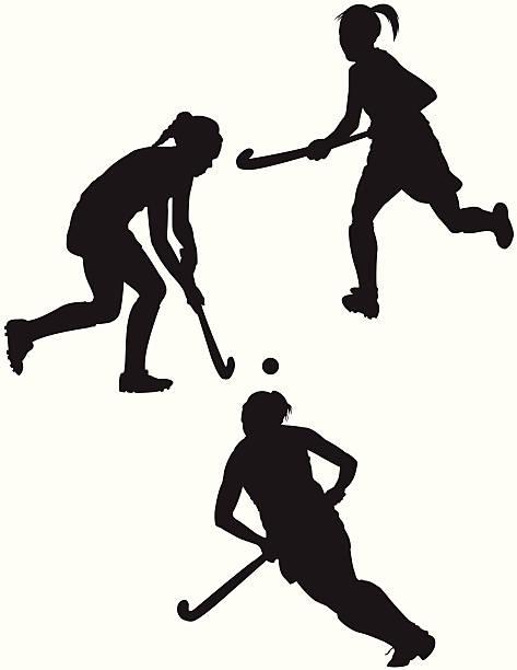 field hockey player - hockey stock-grafiken, -clipart, -cartoons und -symbole