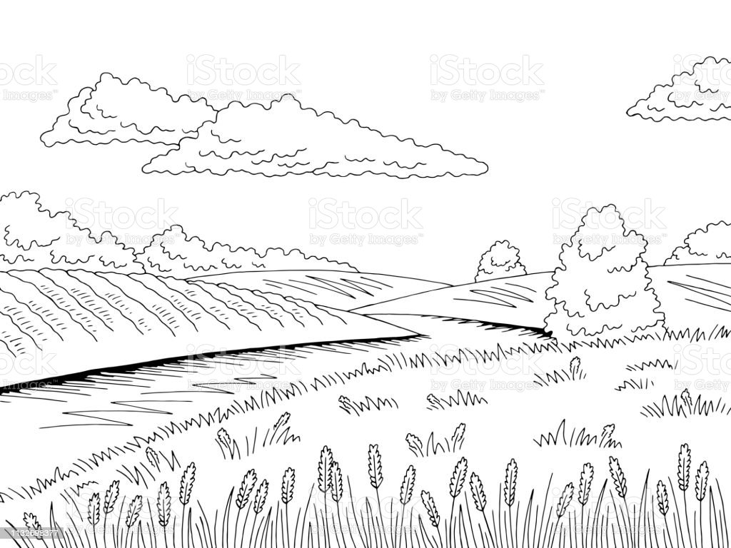 field river graphic black white landscape sketch illustration vector stock illustration download image now istock field river graphic black white landscape sketch illustration vector stock illustration download image now istock