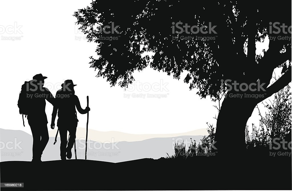 Field Trek Vector Silhouette royalty-free field trek vector silhouette stock vector art & more images of adult