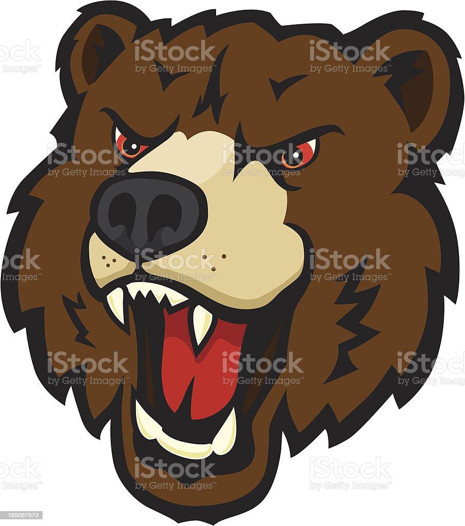 Fierce Bear Mascot vector art illustration
