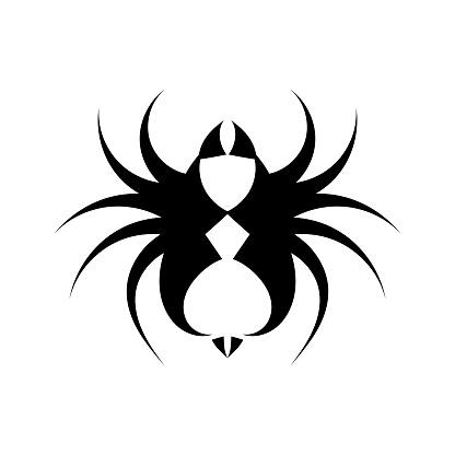Fierce tarantula black and white logo